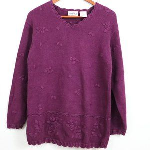 Northern Reflections | Flower Embroidered Sweater